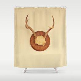 Warm Antler Shower Curtain