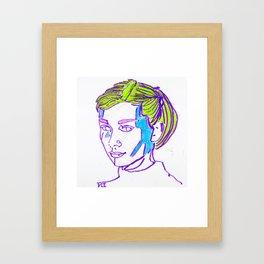 Stained Glass Hepburn Framed Art Print