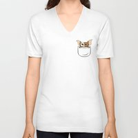 gizmo V-neck T-shirts featuring G pocket by Buby87