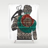 daryl dixon Shower Curtains featuring Daryl Dixon with Quotes by rlc82