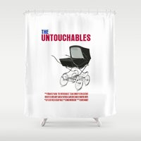 movie poster Shower Curtains featuring The Untouchables Movie Poster by FunnyFaceArt
