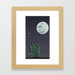 Zombie Hand Framed Art Print