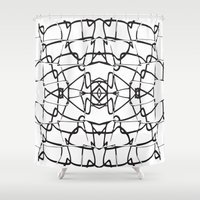 the wire Shower Curtains featuring wire by kartalpaf