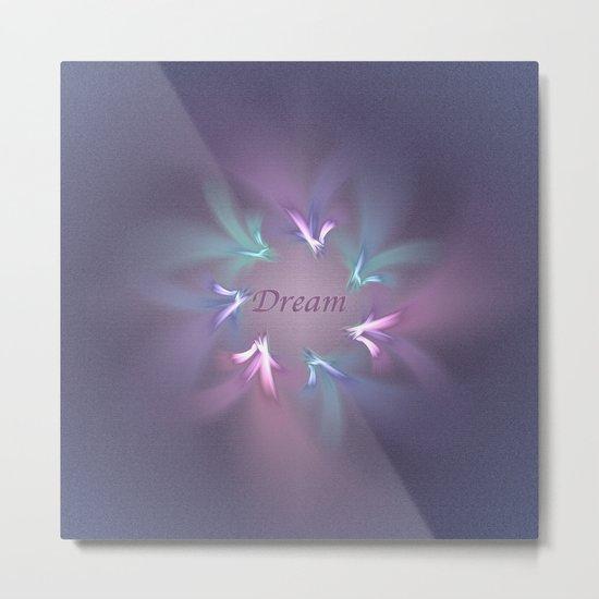 Circle Ribbon Dream Metal Print