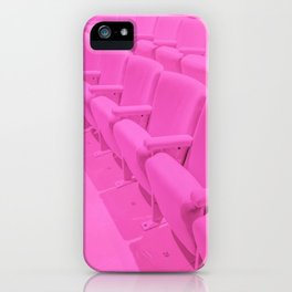 Pink Theater Seats in Palm Springs iPhone Case