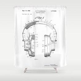 Headphones Patent Shower Curtain