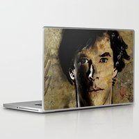 cumberbatch Laptop & iPad Skins featuring Cumberbatch as Sherlock Holmes by André Joseph Martin