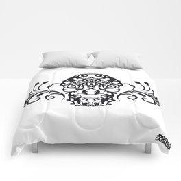 SKULL FLOWER 04 Comforters