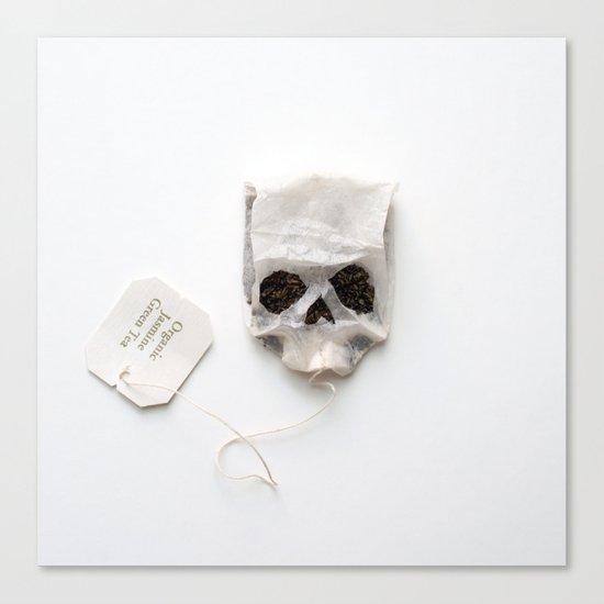 253. Tea Bag Skull Canvas Print