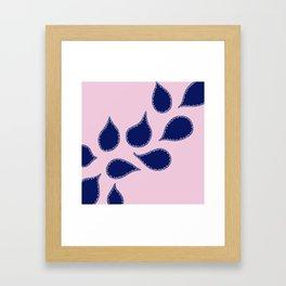 Indigo Petals Framed Art Print