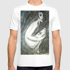 NUDE IN PI SMALL Mens Fitted Tee White