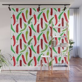New Mexico Christmas Hatch Chiles in White Wall Mural
