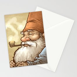 Gnome Pipe Enthusiast Stationery Cards