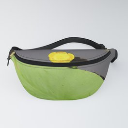 Yellow waterlily with lily pad Fanny Pack