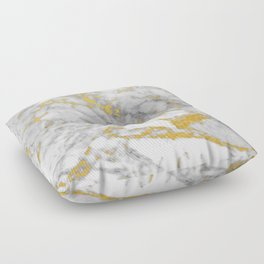 Gold Flecked Marble Floor Pillow