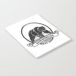 Glacier National Park Emblem Notebook