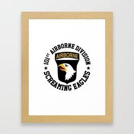Screaming Eagles Framed Art Print