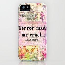 Emily Bronte quote iPhone Case