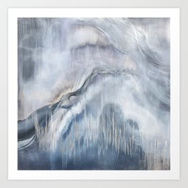 Calamity Blue Gray Silver Painting Art Print