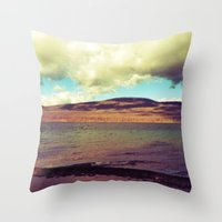 the national Throw Pillows featuring National Forest by Christel Sayegh