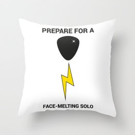 Prepare For a Face-Melting Solo Throw Pillow