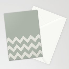 Gray Grey Chevron Colorblock Stationery Cards