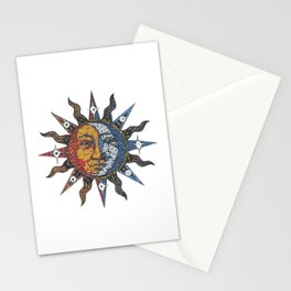 Celestial Mosaic Sun/Moon Stationery Cards