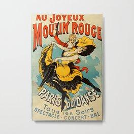 Parisian Vintage Poster Metal Print