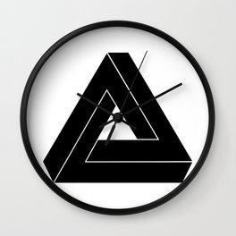 Penrose Triangle - Optical Illusion Wall Clock