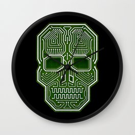 Skull Hacker (isolated version) Wall Clock
