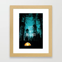 Lets Get In Tents Framed Art Print