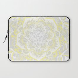 Woven Fantasy - Yellow, Grey & White Mandala Laptop Sleeve