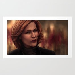 Special Agent Dana Scully Art Print