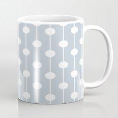 BlueGray Lined Polka Dot Mug