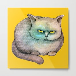 Disdainful Cat Metal Print