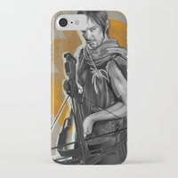 daryl iPhone & iPod Cases featuring Daryl Dixon by Yan Ramirez