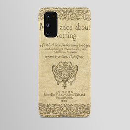 Shakespeare. Much adoe about nothing, 1600 Android Case