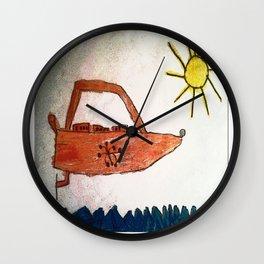 Cabsink16DesignerPatternGSA Wall Clock