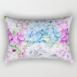 Multicolor Watercolor Hydrangea dream pattern Rectangular Pillow