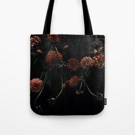 Bronze Dahlias Tote Bag