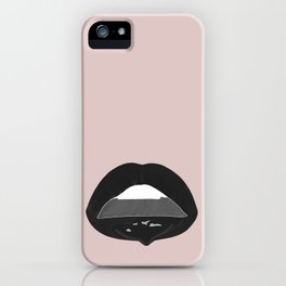 black dripping lips iPhone Case