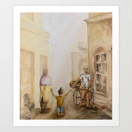 Punjabi village Art Print