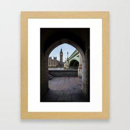 Under Westminster Framed Art Print