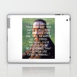 I have a dream - Martin Luther King Junior Wall Art Portrait, Speech, Home Decor, Dorm Decor Laptop & iPad Skin