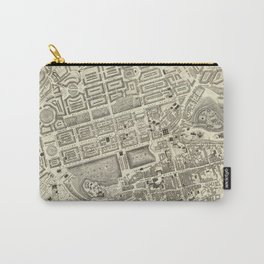Vintage Map of Edinburgh Scotland (1844) Carry-All Pouch