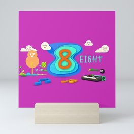 Number eight - Kids Art Mini Art Print