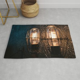 Two lights in the darkness Rug