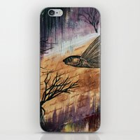 literary iPhone & iPod Skins featuring Literary Flying Fish by Sarah Sutherland