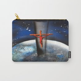 Saving the World Cross Spray Paint Carry-All Pouch