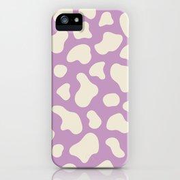_ cow print purple/lavanda pastel colors iPhone Case